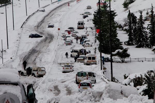 Por primera vez en más de 100 años nieva en Egipto 152820_nieveisrael_principal