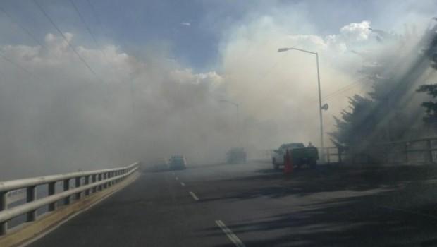 Se registra impresionante incendio en avenida Alta Tensión y Del Rosal, en Álvaro Obregón