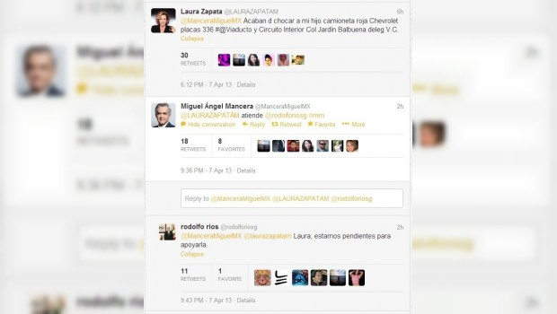Atención personalizada de Miguel Ángel Mancera a Laura Zapata por accidente vial genera críticas