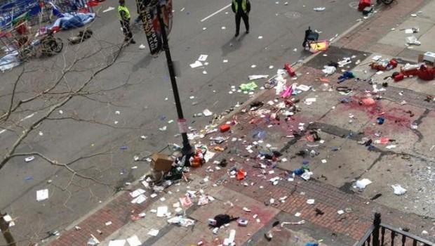 FOTO: Sangrientas imágenes tras atentado en maratón de Boston