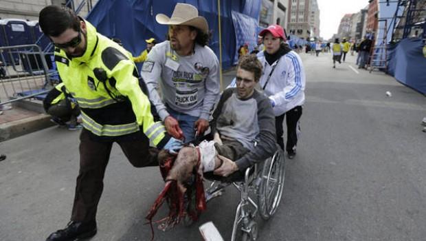 FOTO: amputado durante ataque terrorista en Maratón de Boston