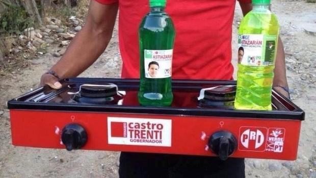 Se repite la historia: en Tijuana, el PRI y Castro Trenti intercambian estufas por votos