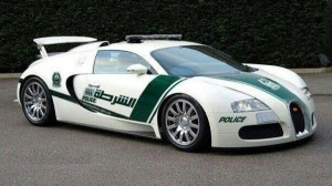 La nueva patrulla de la polica de Dubai es un Buggati Veyron,