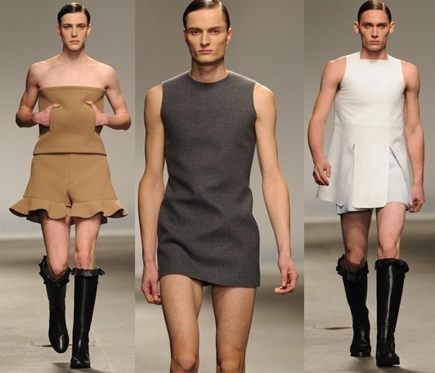 Vestidos femeninos para hombres