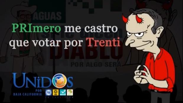 """VIDEO: """"PRImero me Castro que votar por Trenti""""; el nuevo spot de Ruffo Appel y Ríos Piter"""