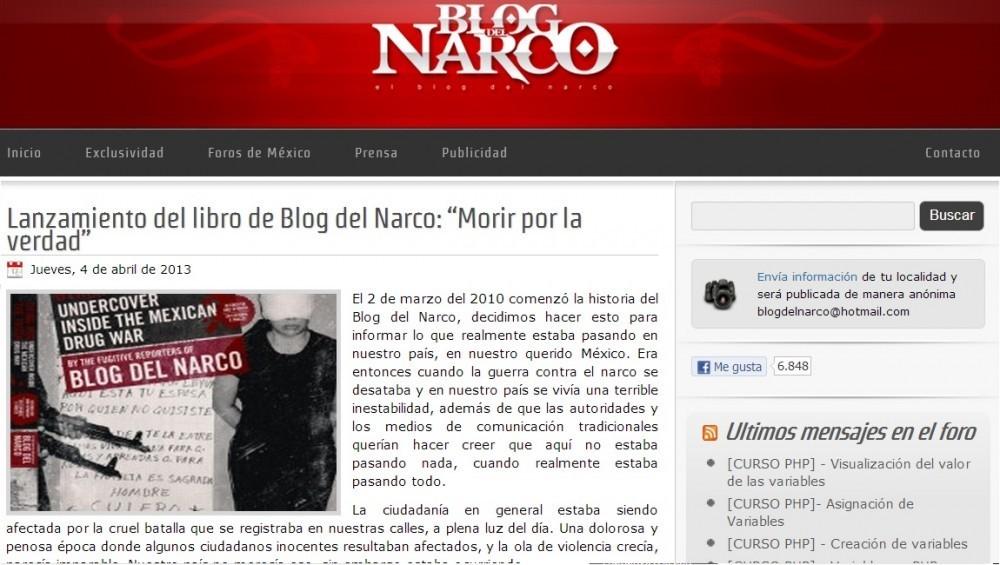 """Lucy"""", titular del Blog del Narco, escapó de México"""