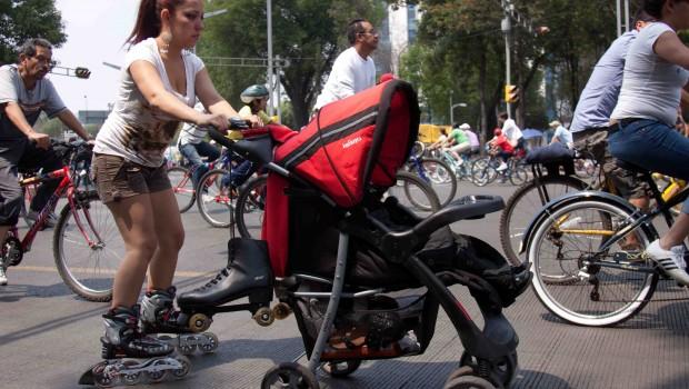 """Movilización de la CNTE obliga a suspender el paseo """"Muévete en Bici"""""""