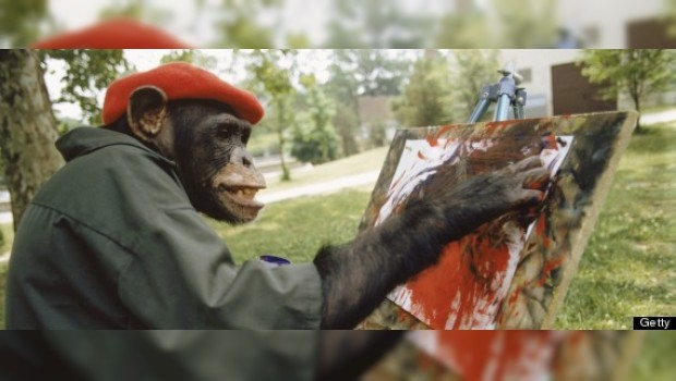 Chimpancé gana concurso de arte en línea