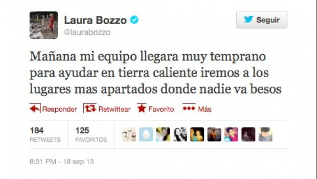 Laura Bozzo arriba a Guerrero en helicóptero del gobierno de Edomex