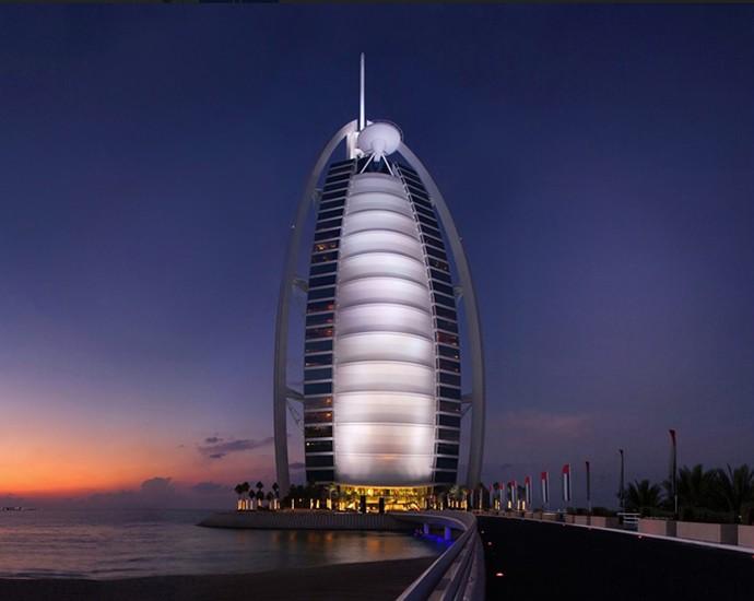 Datos Curiosos Del Burj Al Arab El Hotel Más Lujoso Del Mundo Azul