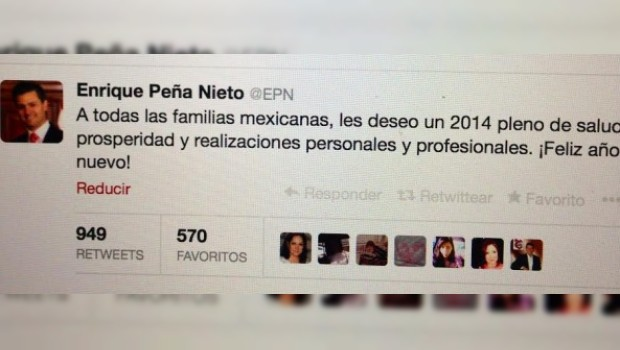 Salud y prosperidad, desea Peña Nieto a familias mexicanas en 2014