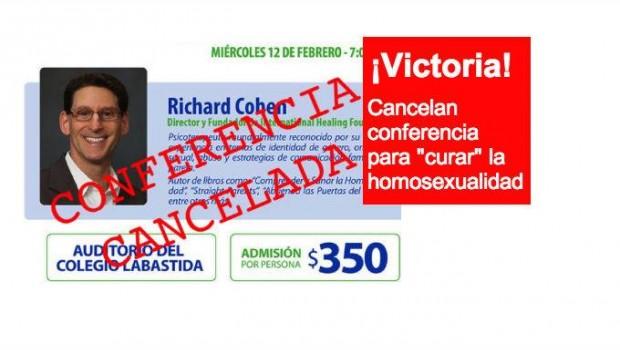 Cancelan conferencia de Richard Cohen sobre curar homosexualidad en Monterrey