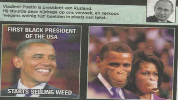 Acusan a periódico de racismo por mostrar a Los Obama como monos