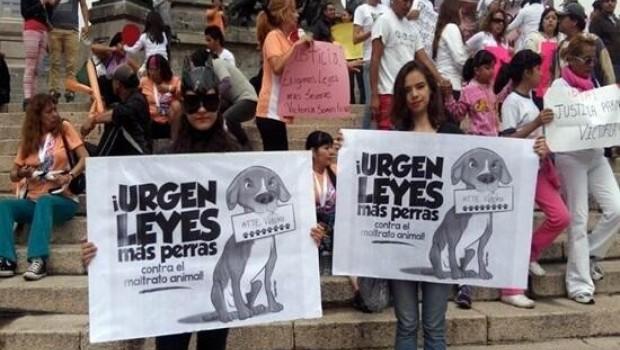 Protestan contra el maltrato animal en Paseo de la Reforma