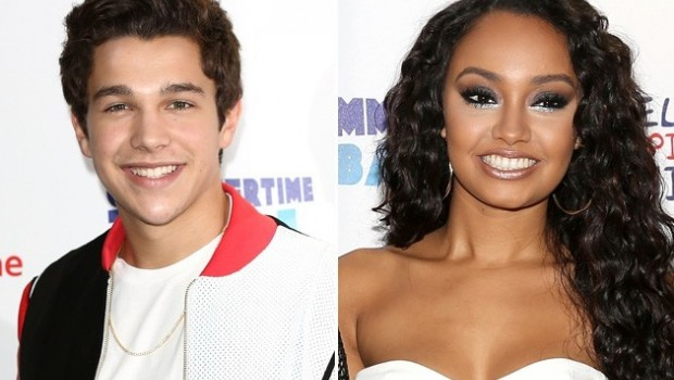 Austin Mahone emocionado con integrante de Little Mix