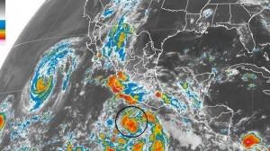 La circulación de la tormenta tropical Marie favorecerá el desarrollo de nublados y lluvias intensas con tormentas eléctricas y potencial de granizo en Guerrero y Oaxaca. Foto/Especial