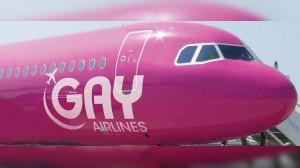 Avión rosa de