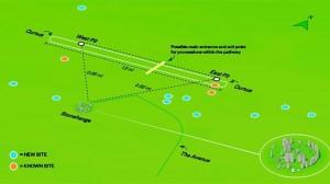 (Smithsonian) Mapa de la localización de Stonehenge y los nuevos monumentos descubiertos