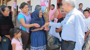 Andrés Manuel estuvo de visita en Michoacán. Foto/Web de AMLO
