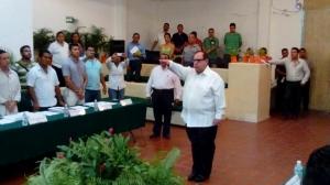 (@RMonrealAca) Marcos Esteban Juárez toma protesta como nuevo titular de la Secretaría de Seguridad Pública de Acapulco