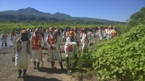 Los trabajadores de Grupo México sólo fueron un día a supuestamente sanear el río, y ya no se les volvió a ver, denuncian. Foto/Cuartoscuro