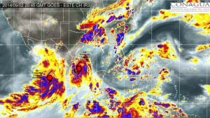 Se espera que a las 2:00 de la madrugada la tormenta tropical Dolly toque Tamaulipas. Foto/Especial
