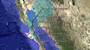 El fenómeno meteorológico Odile causó daños en su paso por Baja California Sur. Foto/Conagua