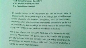 En su cuenta de Twitter, el panista hizo pública una carta en la que externa su disculpa con el jugador brasileño. Foto/Especial