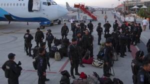 Fuerzas federales llegaron a las zonas afectas por el paso de Odile en BCS para reforzar la seguridad. Foto: Guillermo Perea/Cuartoscuro