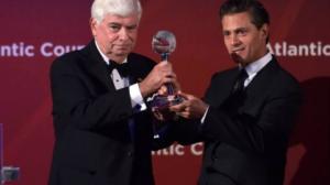 Peña Nieto fue reconocido por las reformas estructurales aprobadas por el Congreso de la Unión. Foto/Twitter