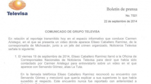 Televisa aseguró que se desvinculó de la agencia Digital Diprosa, SA de CV, a través de Eliseo Caballero Ramírez. Foto/Especial
