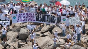 Una de las manifestaciones contra la violencia en Tamaulipas. Este sábado habrá nueva movilización. Foto/Cuartoscuro (Archivo)
