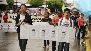 Marcha por normalistas. Exigencia de justicia. Foto/Cuartoscuro