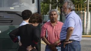 Ayer padres de los 43 desaparecidos se reunieron con Osorio Chong y Murillo Karam. Foto: Bernandino Hernández/Cuartoscuro