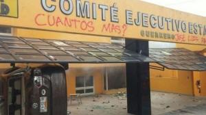 Queman oficinas de Comité Ejecutivo de Guerrero
