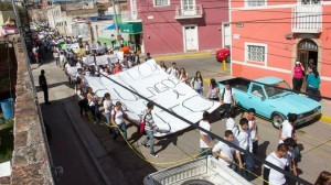 Manifestación por Ricardo Esparza Villegas. Foto Especial.