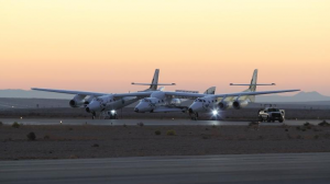 Última imagen del SpaceShipTwo. Foto: Twitter.
