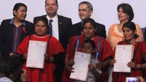 Miguel Ángel Mancera, Jefe de Gobierno Capitalino durante la conmemoración del día Internacional para la eliminación de las violencias contra las mujeres y las niñas:Trato igualitario a las mujeres indígenas.