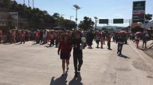 Momento del bloqueo. Foto/@RaymundoteleSUR