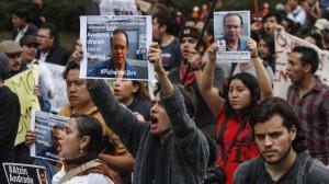 Manifestación por los once detenidos Foto: Cuartoscuro