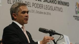 Miguel Ángel Mancera durante el foro