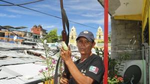 Cándida González Garibay, madre de familia que fue secuestrada en marzo pasado, se integró a la policía ciudadana de Ayutla. Foto: José I. Hernández / Cuartoscuro