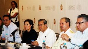 Rosario Robles durante la reunión de evaluación del Plan Nuevo Guerrero.
