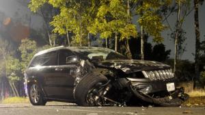 Camioneta que chocó Jesús Valencia. Foto/Cuartoscuro