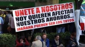 Protestas de defraudados. Los ahorradores de Ficrea de pronto se quedaron sin sus fondos. Foto/Cuartoscuro (Archivo)