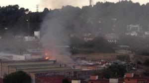 Así se observó el lugar de la tragedia en redes sociales. Foto/@Siete24Noticias