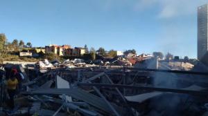 El desplome del 30% del hospital se desplomó. Foto/Twitter