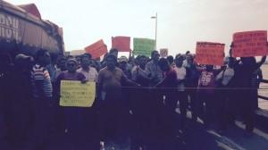 Los trabajadores de Oceanografia estaban en protesta para exigir el pago de sus liquidaciones.
