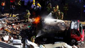 Pipa de Gas Express Nieto que explotó frente al Hospital Materno Infantil. Foto/Cuartoscuro